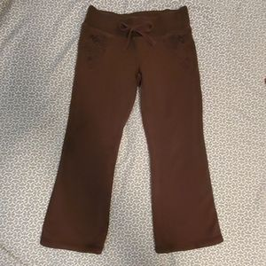 3 for $12 Old navy xs brown flared sweat pants